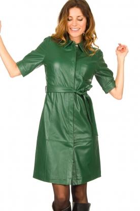 Dante 6 |  Leather dress Chandler | green