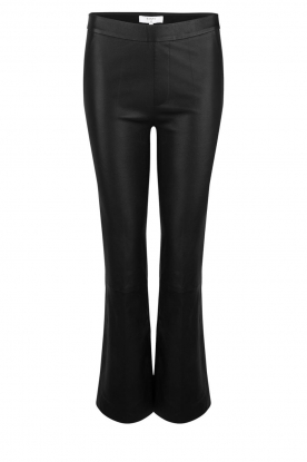 Dante 6 |  Flared leather leggings Tyson | black