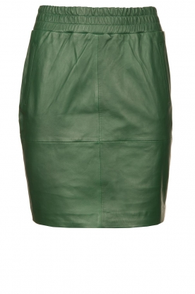 Dante 6 | Leather skirt Dyna | green