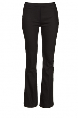 Dante 6 | Straight cotton trousers Azumi | black