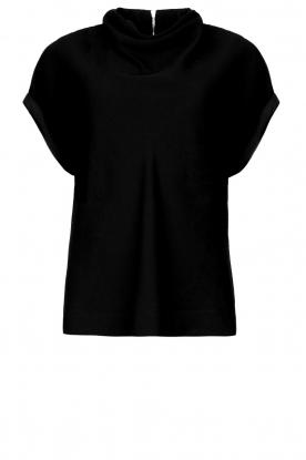 Dante 6 |  Top with draped neckline Mason | black
