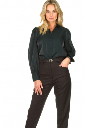 Dante 6 |  Blouse with puff sleeves Mauri | green