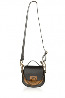 Dante 6 |  Leather shoulder bag Noussa | black