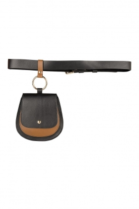 Dante 6 |  Leather waistpouch bag Bella | black