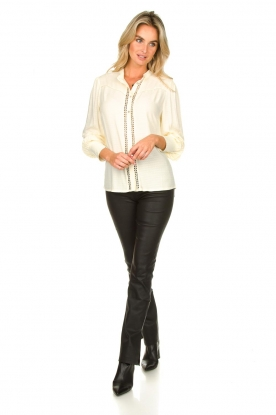 Look Blouse with pleated sleeves Tamia