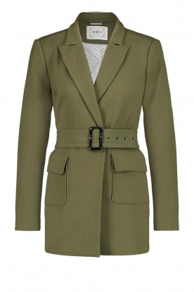 Aaiko | Blazer with belt | green