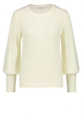 Aaiko | Sweater with balloon sleeves Elyse | white