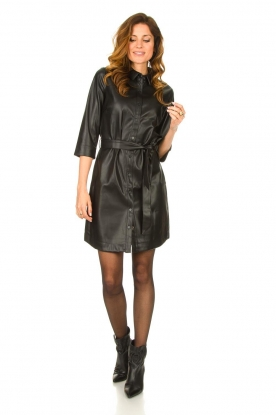 Look Faux leather midi dress Peloma