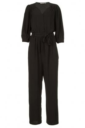 Aaiko |  Jumpsuit with tie belt Shivani | black