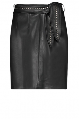 Aaiko | Faux leather skirt with studs Patia | black
