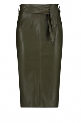 Aaiko | Faux leather pencil skirt  detail Ploxy | green
