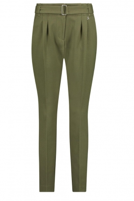 Aaiko | Pants with belt Lyatt | green