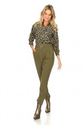 Aaiko |  Pants with belt Lyatt | green