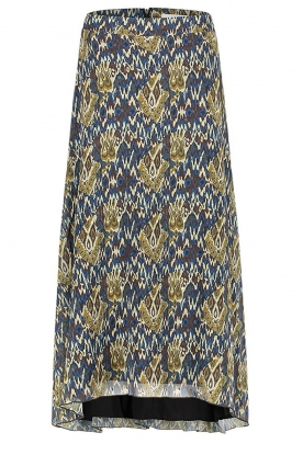 Aaiko | Maxi skirt with print Caya | blue