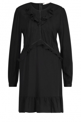 Aaiko |  Dress with ruffles Talise | black