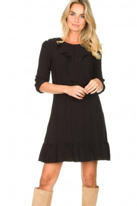 Aaiko |  Dress with ruffles Talise | black