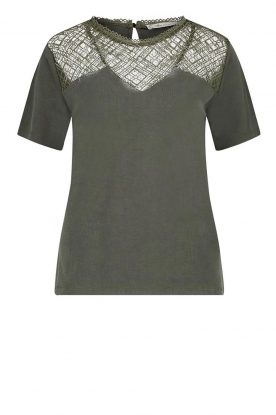Aaiko | Top with lace details Meghan | green