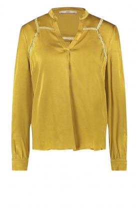 Aaiko | Satin blouse Valera | yellow