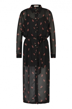 Freebird |  Dress with print Helen | black