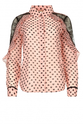 Fracomina |  Blouse with volant details Heart It | Pink