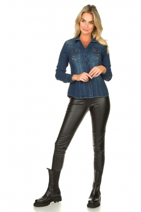 Look Denim blouse with beads Khloe