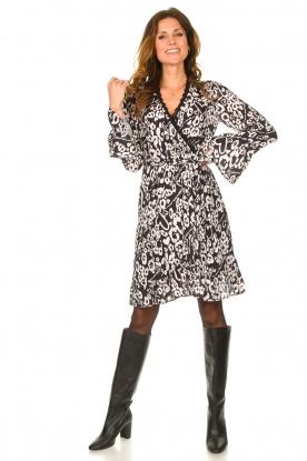 Look Leopard printed dress Hollow