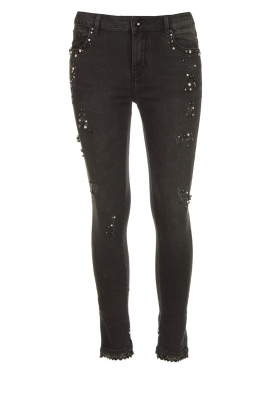 Fracomina |  Jeans with beads and stones Haudrey | black