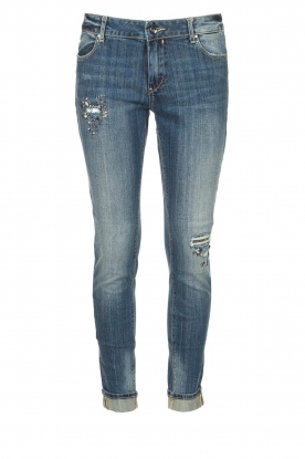 Fracomina | Jeans with beauds and stones Lisa | blue
