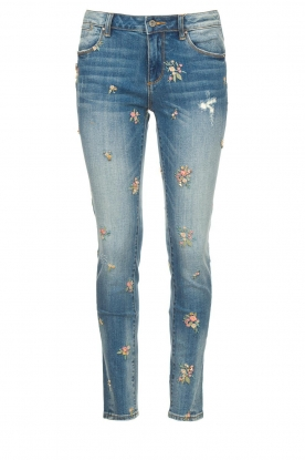Fracomina |  Jeans with embroidered beads Mary | blue