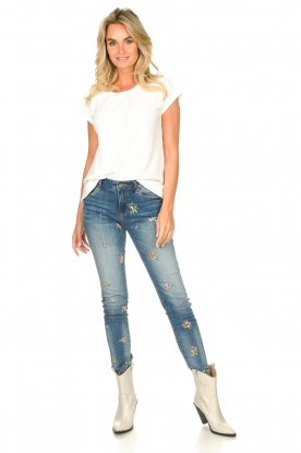 Look Jeans with embroidered beads Mary