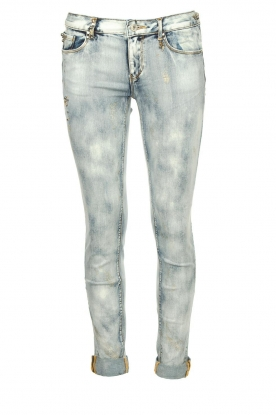 Fracomina |  Jeans with sparkles and beads Sarah | grey