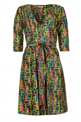 Fracomina | Printed dress with lurex | multi