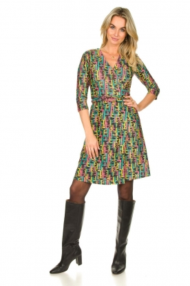 Look Printed dress with lurex