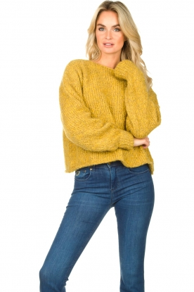 American Vintage | Knitted sweater Tudbury | yellow