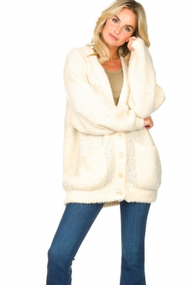 American Vintage |  Soft oversized button cardigan Tudbury | natural
