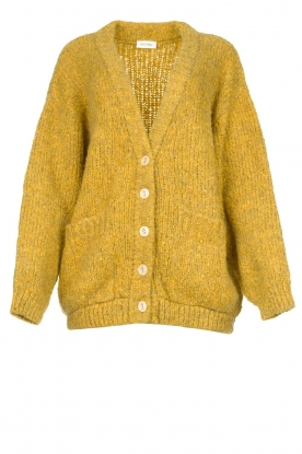 American Vintage | Soft oversized button cardigan Tudbury | yellow