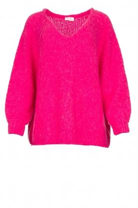 American Vintage |  Soft V-neck sweater Tudbury | pink
