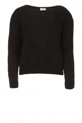 American Vintage | Kid mohair sweater Zabido | black