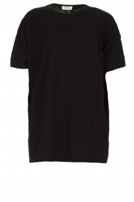 American Vintage | Oversized cotton T-shirt Sonoma | black