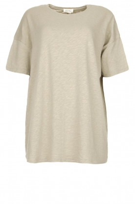 American Vintage | Oversized cotton T-shirt Sonoma | grey