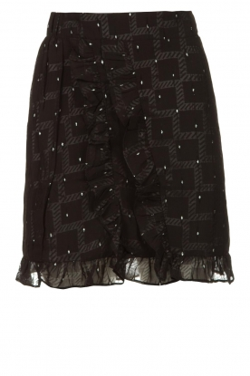Freebird | Skirt with ruffles Silke | black