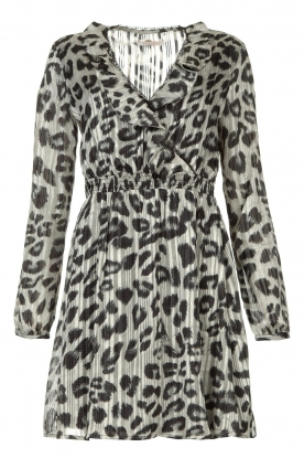 Freebird | Leopard printed dress Gianna | grey