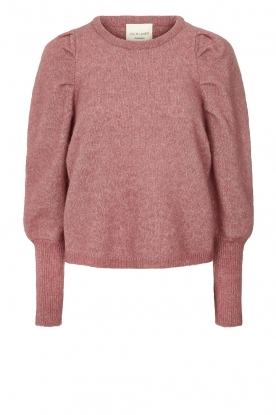 Lolly's Laundry |  Sweater with puff sleeves Priscilla | old pink