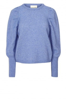 Lolly's Laundry | Sweater with puff sleeves Priscilla | blue