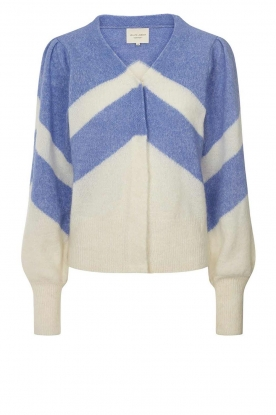 Lolly's Laundry | Cardigan with colour pattern Laura | blue