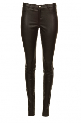 Ibana |  Leather stretch pants Tarte Tatin | black