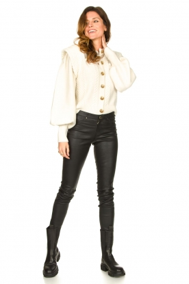 Look Soft knitted cardigan with balloon sleeves Sonya