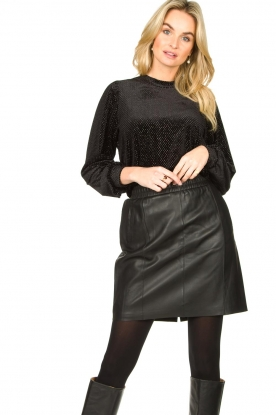 Dante 6 |  Leather skirt Eshvi | black