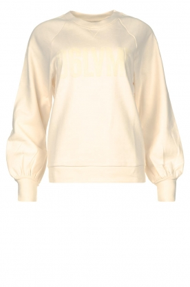 Dante 6 | Sweater with text print Love Me | natural