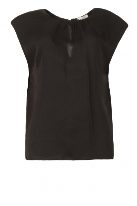JC Sophie | Top with shoulder pads Fera | black